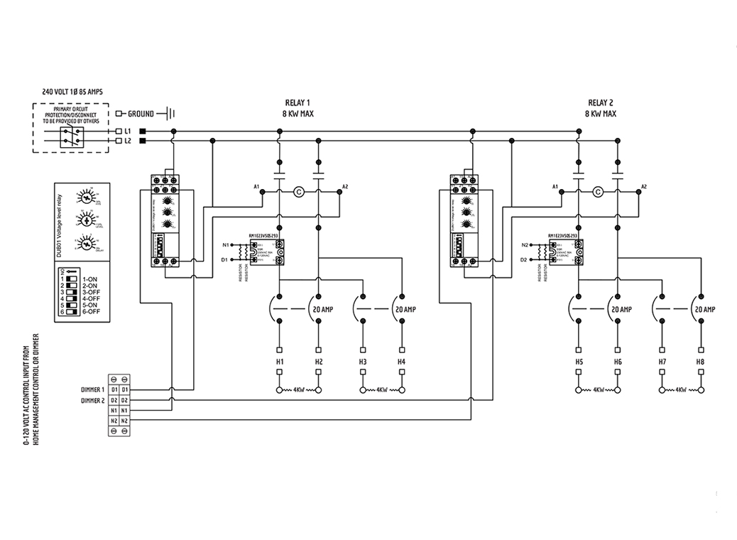 Universal Control Relay Panel Sample Wiring Diagram