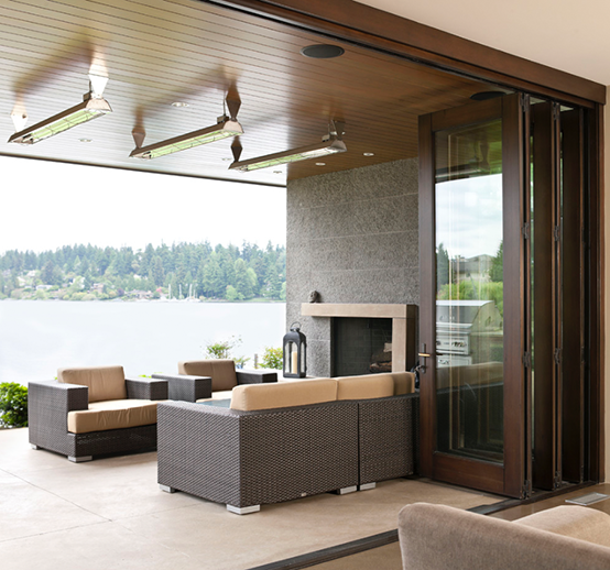 Seattle residence with ceiling mounted WD-Series heaters. Photo via Condon Jacobsen Design Group, LLC.