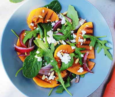 grilled_pumpkin_onion_feta_salad