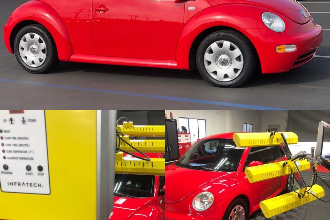 This Beetle gets a shell of ceramic paint protection with help from Infratech systems.