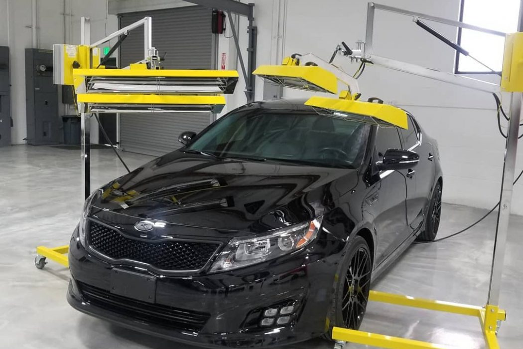 Paint protection cured with Infratech heaters.