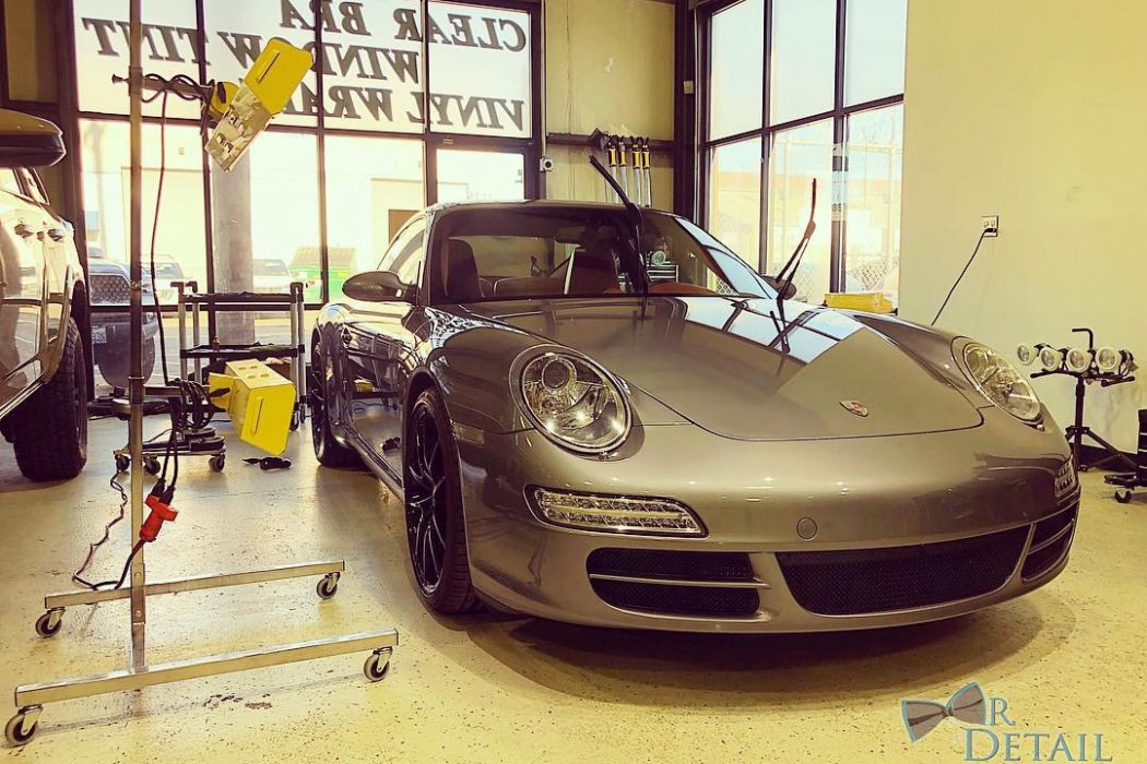 Our SRU-3215 works overtime to cure and protect this reflective Porsche.