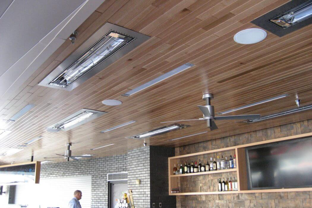 Flush Mounted W-Series Heaters installed in the Minnesota Twins Stadium Bar & Grill dinning areas.