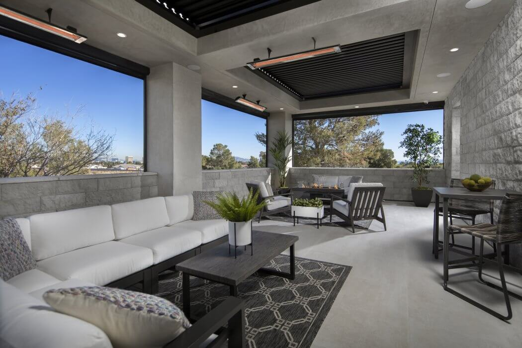 C-Series single element heaters were specified for this Las Vegas patio home remodel.