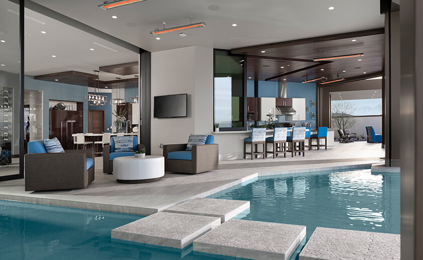 Enjoy pool time year round with CD-Series heaters in an indoor/ outdoor setting.